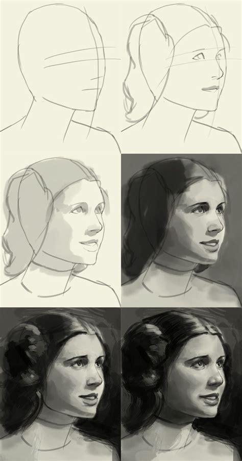 How To Draw Princess Leia Easy