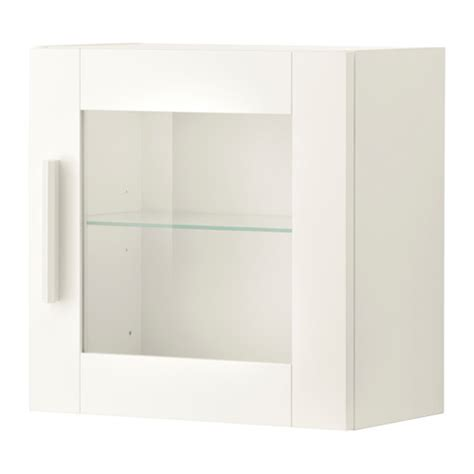 White Glass Cabinet Doors Brimnes Wall Cabinet With Glass Door White Ikea