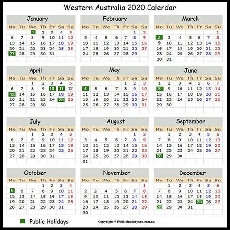 public holidays wa