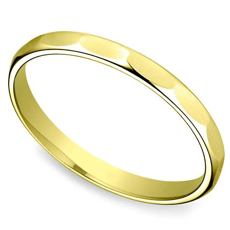 Wedding Rings Yellow by Faceted S Wedding Ring In Yellow Gold