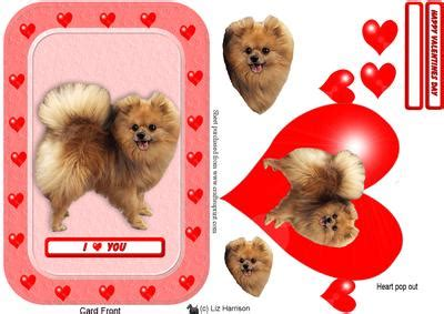pomeranian pop out pomeranian pop out card cup389774 15 craftsuprint