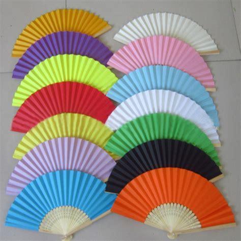Folding Paper Fans Bulk - summer paper fans pocket folding bamboo fan
