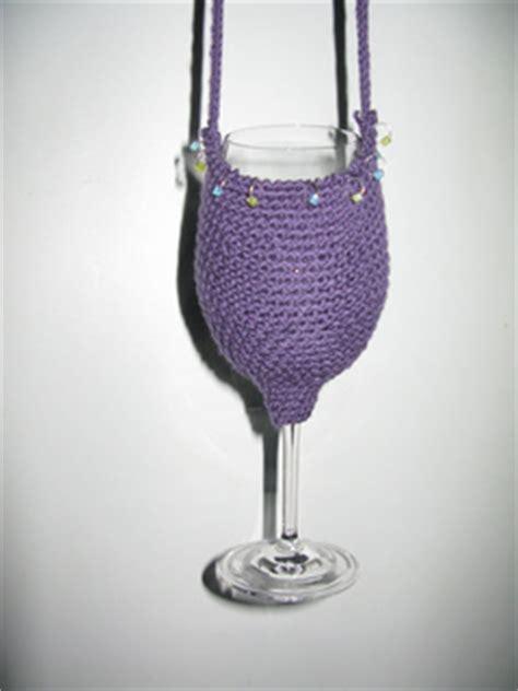 pattern for wine bottle holder ravelry wine glass holder pattern by claudia olson