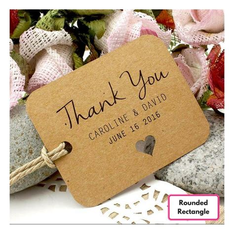 Wedding Favors Thank You Tags by Personalized Brown Kraft Wedding Favor Thank You Gift