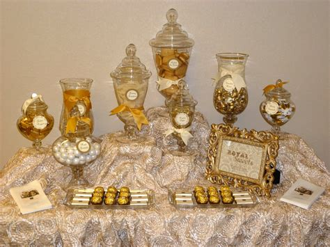 Gold Buffet Table Spoonful Of Sugar Custom Candy Buffets The Royal Candy Buffet