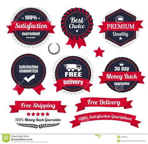 Retro 4 Money Premium High Quality classic premium quality ecommerce badges stock vector
