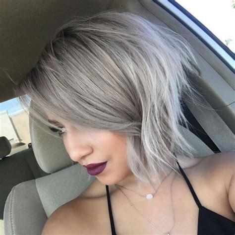 ashblond with silver highlites short hair 1000 ideas about ash blonde bob on pinterest blonde