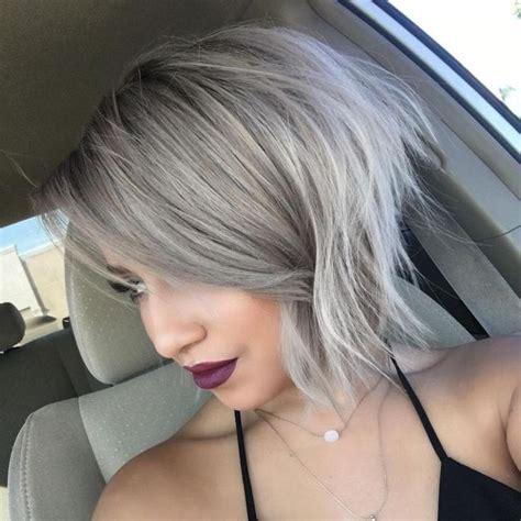 short grey hair for 40s women pinterest 1000 ideas about ash blonde bob on pinterest blonde