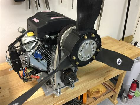 airboat gear reduction drive predator 22 hp belt reduction and propeller