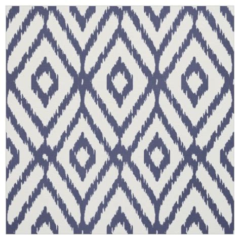 diamond pattern in fabric chic blue and white ikat tribal diamond pattern fabric