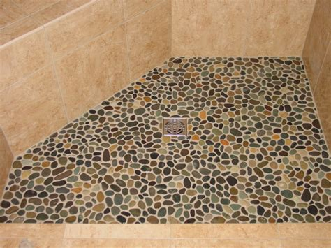 Pebble Tile Floor by Pebble Shower Floors For Tiled Showers How To Install