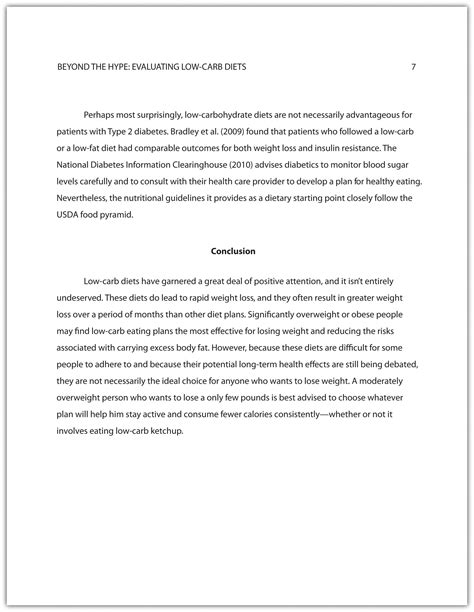 Example Of Conclusion In Research Paper Writing A Research Paper