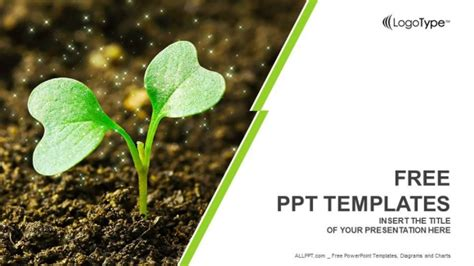 plants themes for powerpoint 2007 free download young plant sprouting powerpoint templates