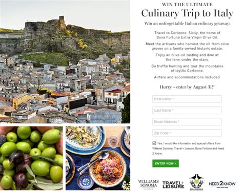 Italy Sweepstakes - trip to italy sweepstakes enter online sweeps howldb