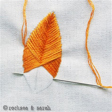 Handmade Embroidery Stitches - raised fishbone stitch 187 s embroidery tutorials