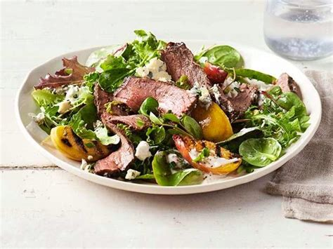 tyler florence salad grilled steak and peach salad recipe tyler florence