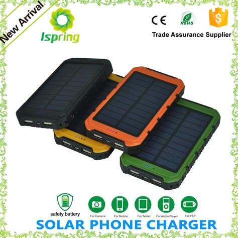 Powerbank 1 Cell Ulir 8000mah Tanpa Packing lasting solar mobile phone charger with li polymer cell 8000mah buy solar mobile phone