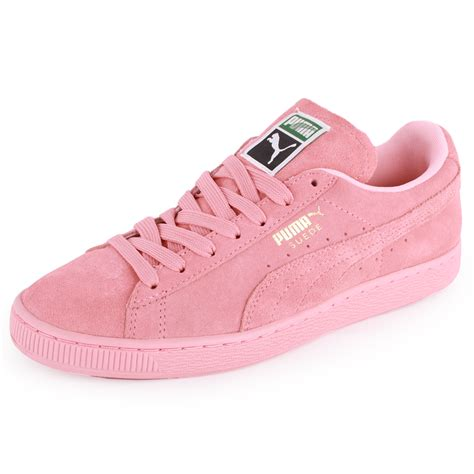 light pink womens sneakers suede womens suede trainers light pink