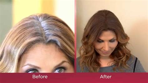 high lighted hair with gray roots instantly cover gray roots with bye bye gray root touch up