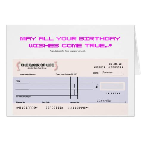 birthday cheque template maltese birthday cards invitations zazzle co uk