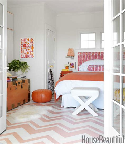 painted bedroom floors pink chevron floor contemporary bedroom benjamin