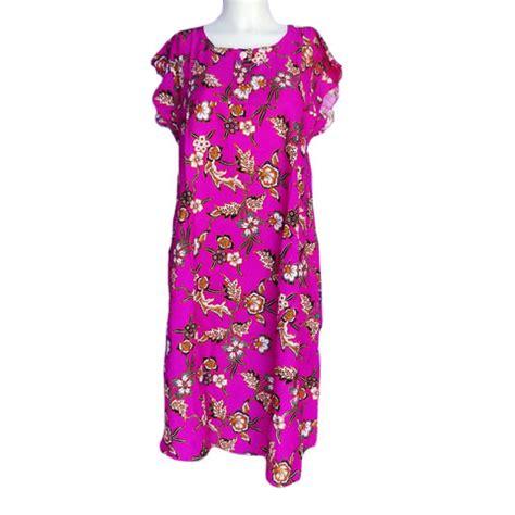 Daster Ungu daster murah lengan pendek bunga yasmin warna ungu toko