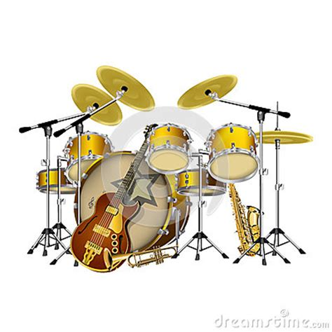 what instruments can be found in the jazz rhythm section musical instruments jazz group stock vector image 58202746