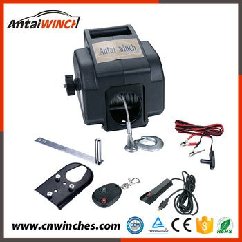 small boat electric anchor winch 12v 2000lb portable electric winch for rc boat trailers