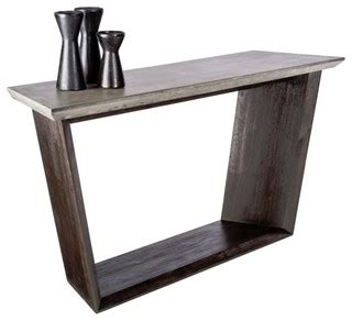 console table design console table with sealed concrete and solid acacia wood frame modern console tables by