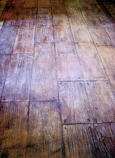 sted and stained concrete floors made to look like wood