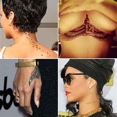 tattoo inspiration rihanna rihanna s many tattoos isis guns stars an astrological