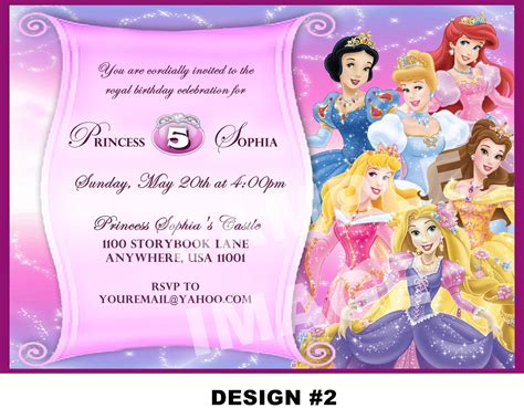 disney jr printable birthday cards disney princess party invitations princess party