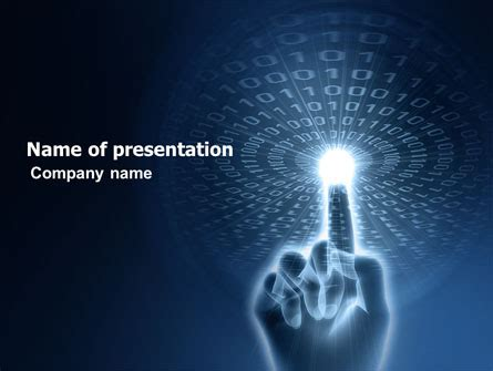 Connection With Digital World Powerpoint Template Backgrounds 04903 Poweredtemplate Com Digital Powerpoint Template