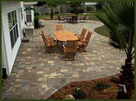 Patio Designs Using Pavers Jacksonville Backyard Hardscapes Landscapes Ecoscapes Jacksonville Project Photos Click To