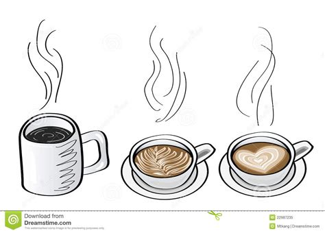 doodle coffee doodle illustrations of coffee drink royalty free stock