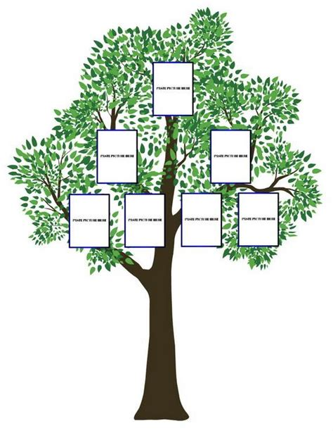 family tree craft templates images