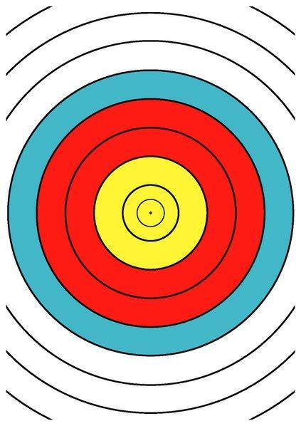 printable fita indoor targets file wa 40 cm archery target center drawing dina4 pdf