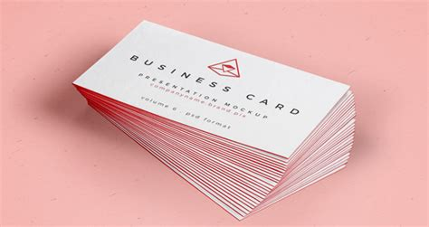 4 side free psd business card templates actions psd business card mock up vol26 psd mock up templates