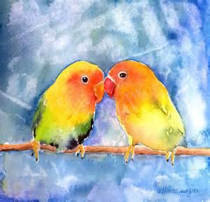 lovebird colors lovey dovey lovebirds by arline wagner