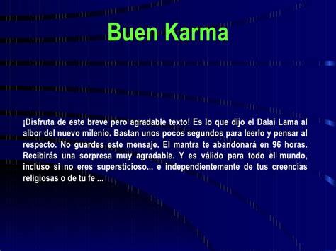 imagenes del karma facebook buen karma