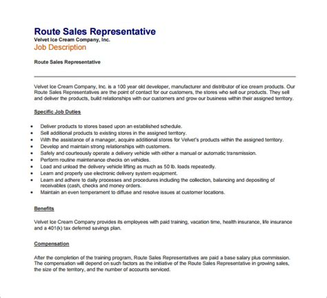 11 sle sales representative description templates