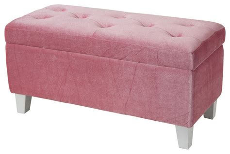 pink storage bench young parisian storage bench pink velvet traditional