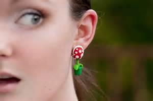 boucles d oreilles plante carnivore mario bros