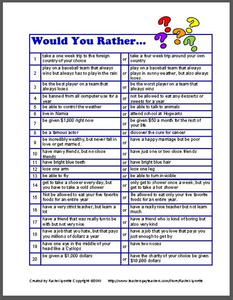 Would You Rather Calendar 2015 Search Results For Would You Rather Worksheet