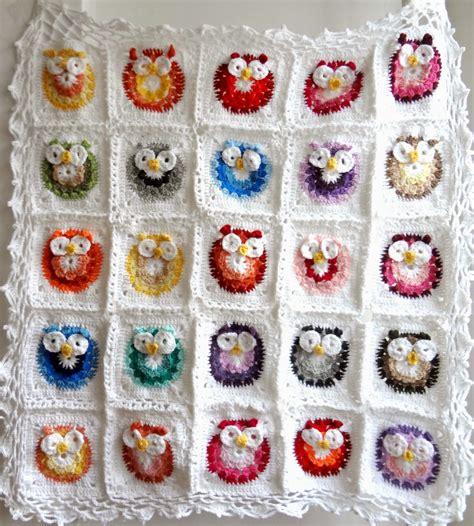 Crochet Owl Pattern Blanket by Treasures Crochet Owl Blanket Pattern