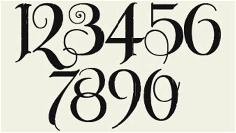 tattoo font for numbers font for table numbers tattoo ideas pinterest