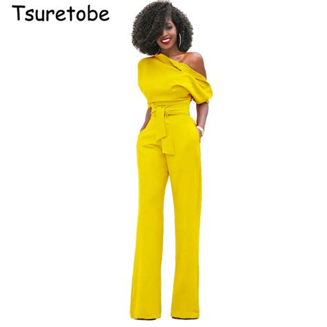 Jumsuit Anak Size S 3 מוצר tsuretobe new fashion the shoulder jumpsuits plus size rompers womens