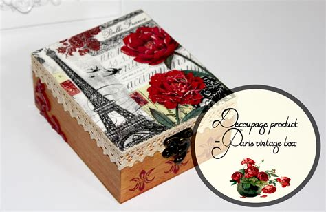 vintage le tour eiffel decoupage box decoupage