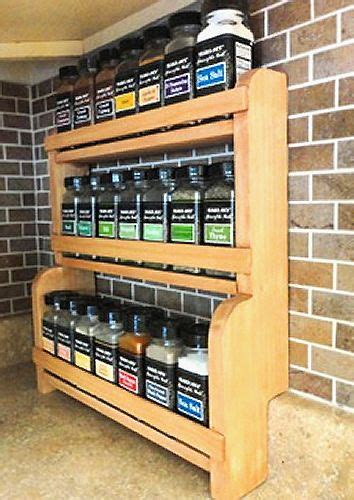 build countertop spice rack plans diy diy wood planter