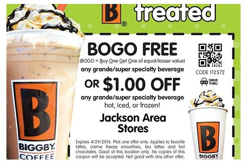 biggby coupons february 2018